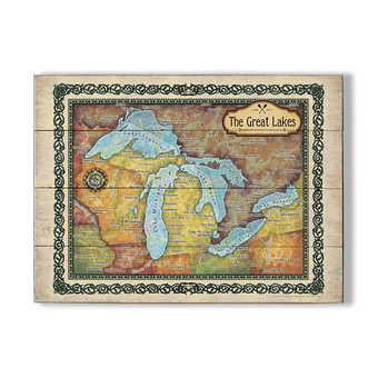 The Great Lakes Vintage Map