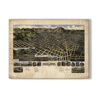 Historic Vintage Map of Helena Montana