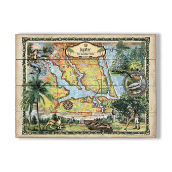 Historic Jupiter Island Florida Vintage Map