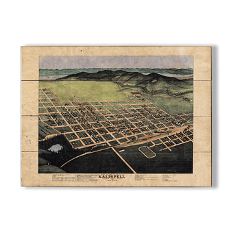 Historic Vintage Map of Kalispell Montana