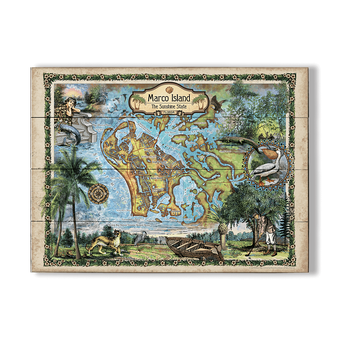 Historic Marco Island Florida Vintage Map