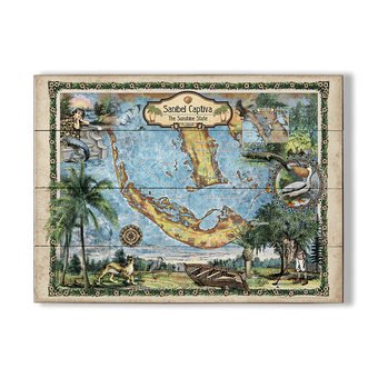 Historic Sanibel-Captiva Vintage Map