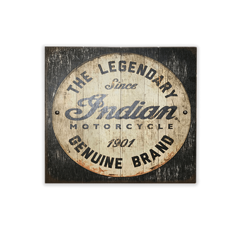 Indian Motorcycle Wood Slated Sign with Studs