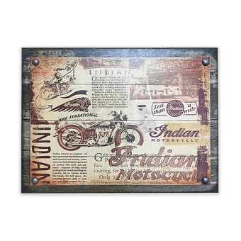Indian Motorcyle Retro Collage Sign