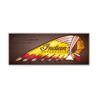 Indian Motorcycle LED Backlit Headdress Sign