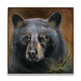 Bear in Branches 2 on Wood