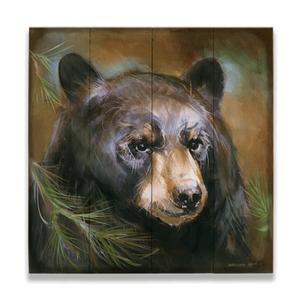 Bear in Branches 3 on Wood