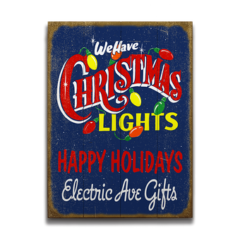 We Have Christmas Lights Sign
