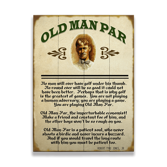 Old Man Par Golf Sign