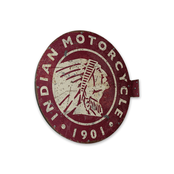 Indian Motorcycle Vintage Marquee Style Pub Sign - Indian Motorcycle Vintage Marquee Style Pub Sign