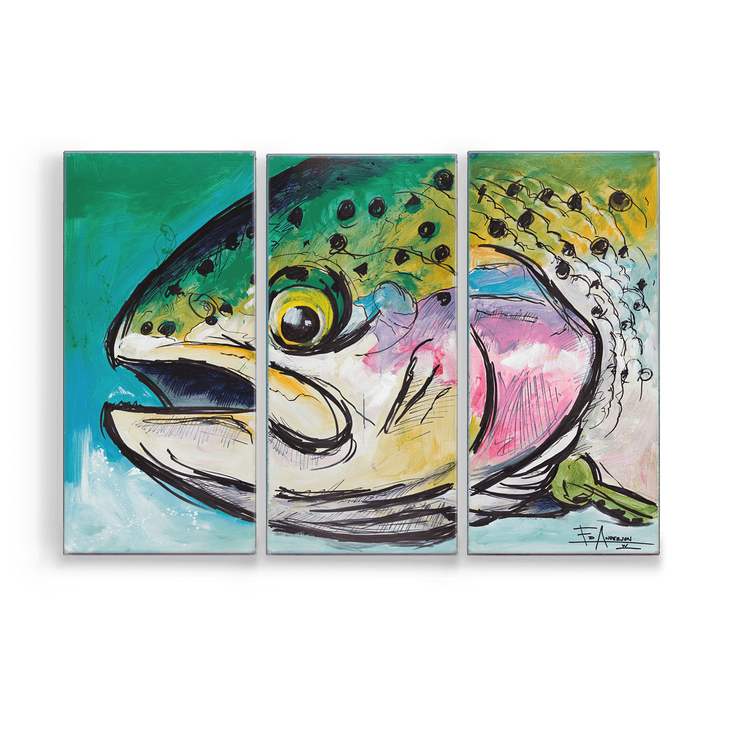 Rainbow Trout Aluminum Box Art by Ed Anderson - Rainbow Trout