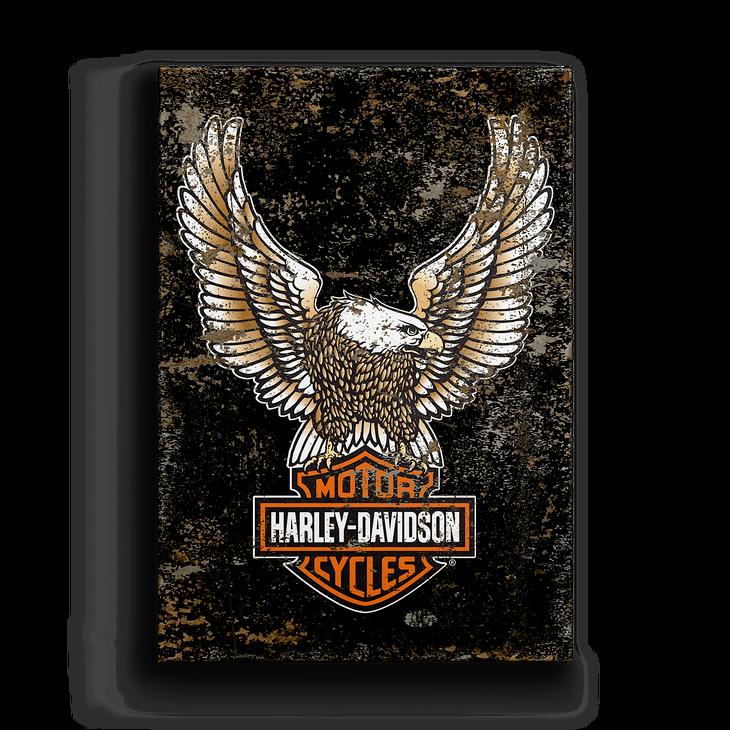 Eagle With Bar Amp Shield Harley Davidson Logo Metal Box Art