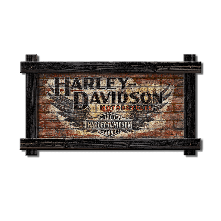 HarleyDavidson Signs Vintage Retro Old Wood Signs Mesmerizing Harley Davidson Signs Decor