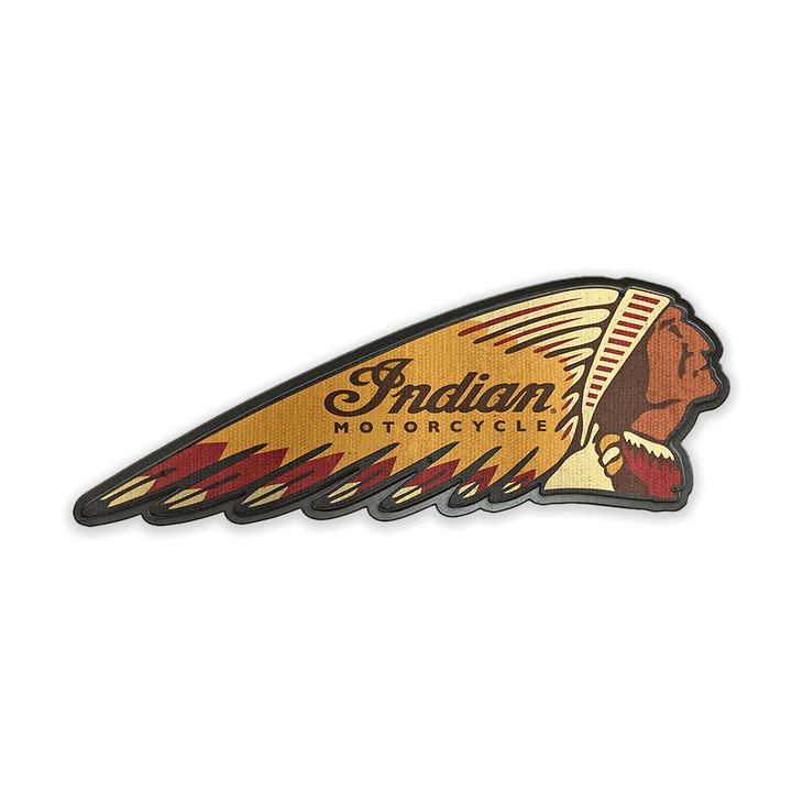 Indian Motorcycle Headdress Patch Sign - Indian Motorcycle Headress Patch Sign