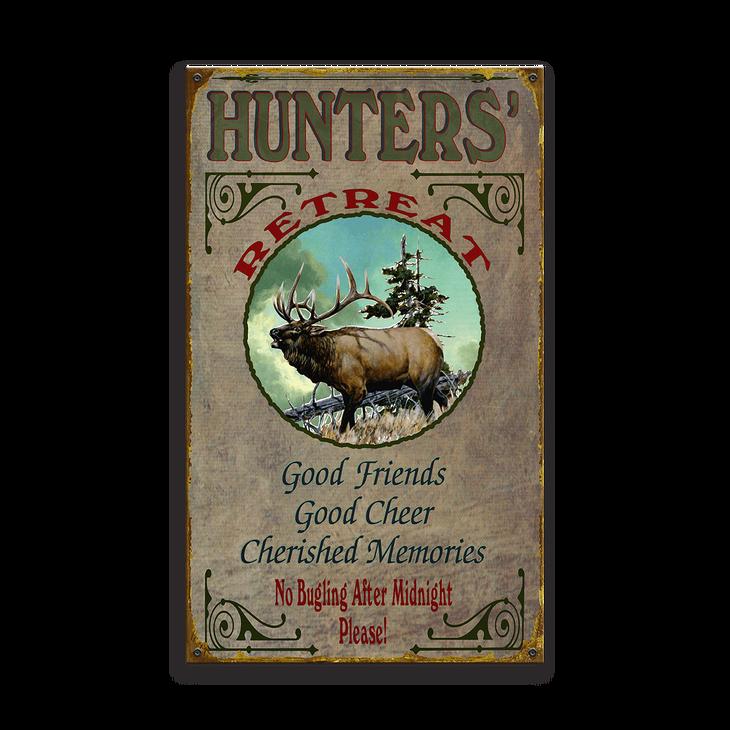 Hunters Retreat Elk Sign Old Wood Signs