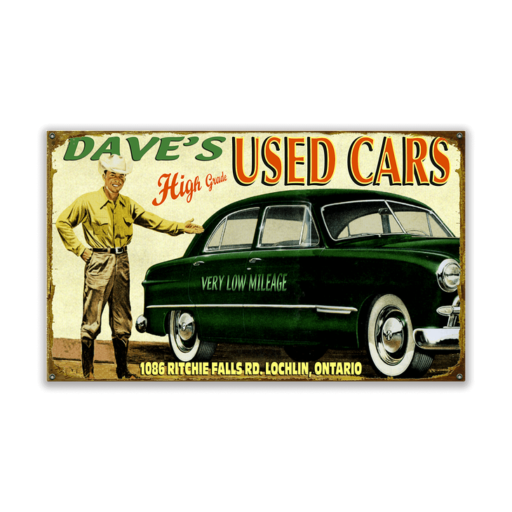 Used Car Salesman Sign - Old Wood Signs