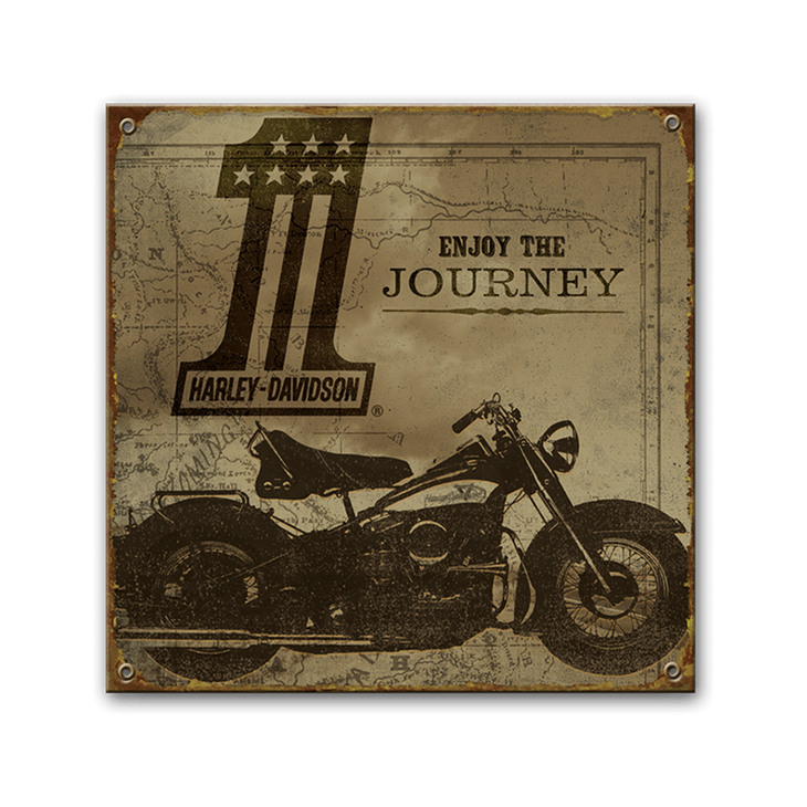 Harley Davidson Enjoy The Journey Steel Sign