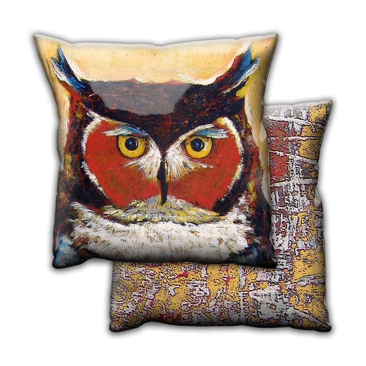 Knowing Owl - Pillow - Knowing