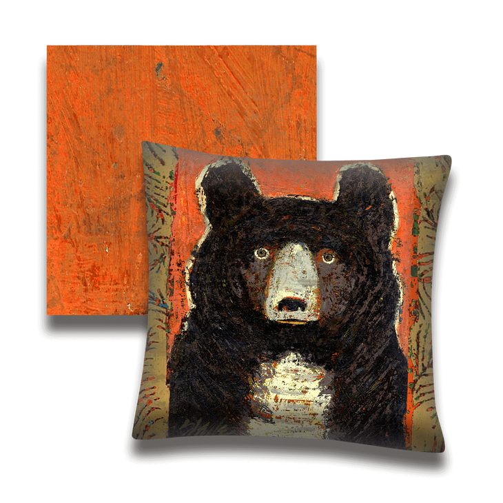 Little Owl Bear Indoor Outdoor Pillow Old Wood Signs