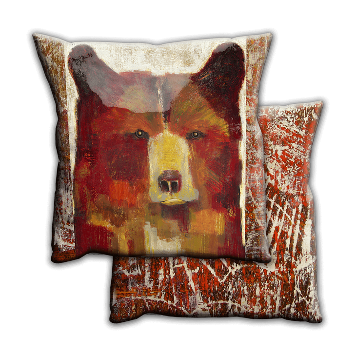 Red Bear Name Shifty Pillow Old Wood Signs