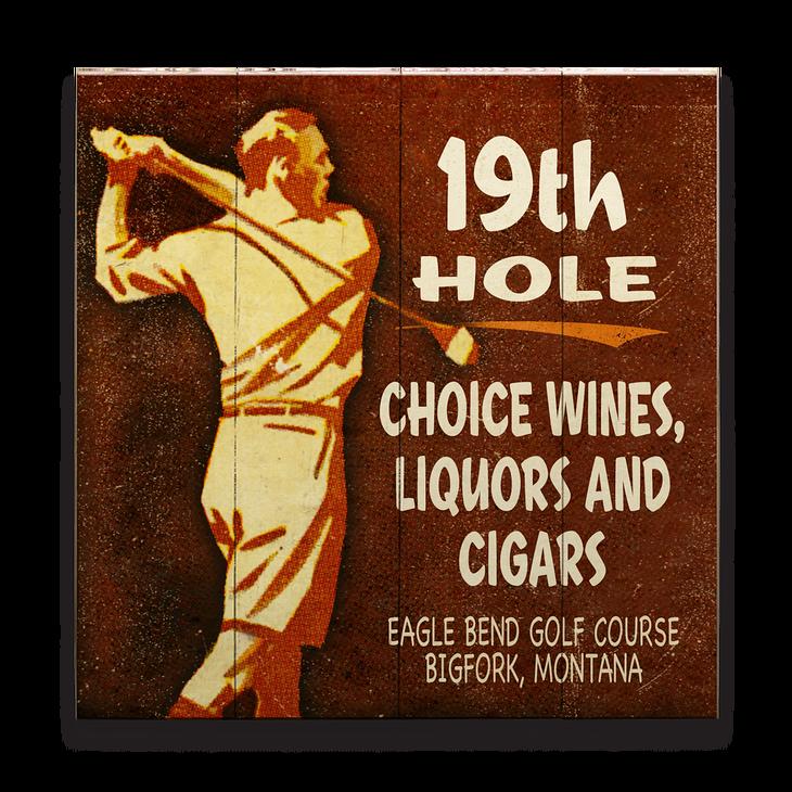 19TH Hole Golfers Loun...W Letter Design