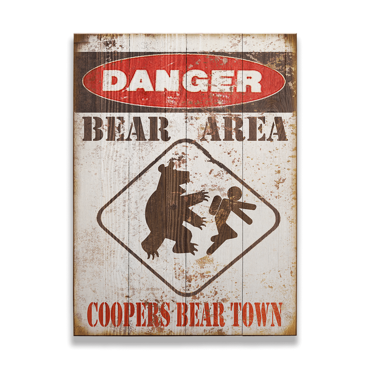 Danger Bear Area Sign - Danger Bear Area