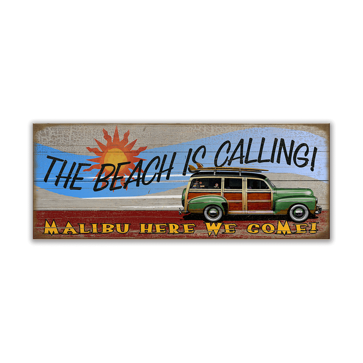 The Beach Is Calling Woody Sign Old Wood Signs