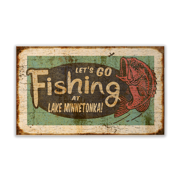 Let's Go Fishing Sign - Let's Go Fishing
