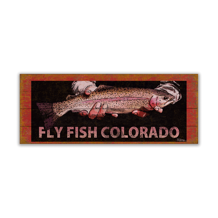 Rainbow Trout Fish Sign - Rainbow Trout