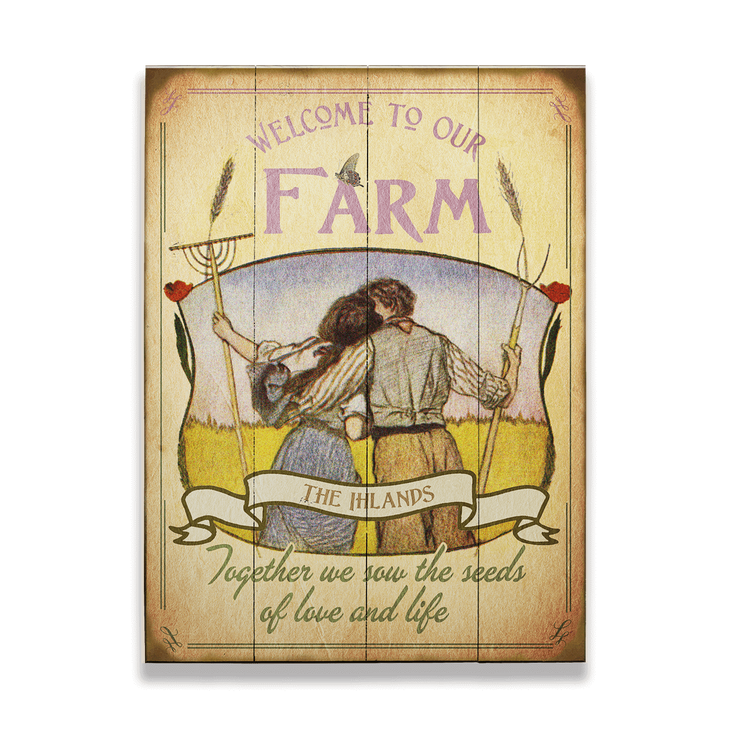 Welcome To Our Farm Rustic Wall Art - Welcome To Our Farm Rustic Wall Art