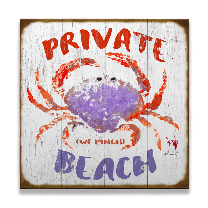 We Pinch Private Beach Sign - We Pinch Private Beach Sign