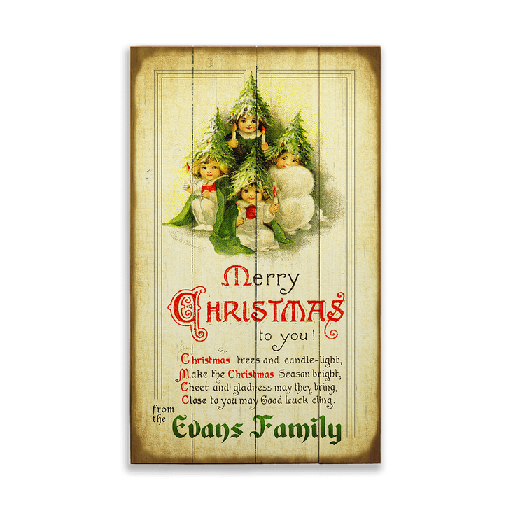 Poem About A Christmas Tree: Merry Christmas Poem Sign