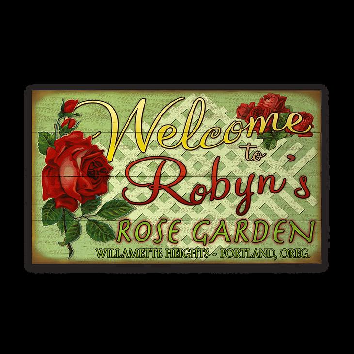 Rose Garden Sign Old Wood Signs