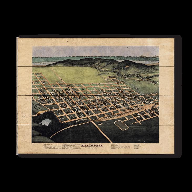Historic Vintage Map of Kalispell Montana on flathead county map, wolf point map, hobbs map, waycross map, bigfork mt map, akron canton map, london map, beckley map, fairmont map, glacier national park map, bozeman map, dickinson map, polson mt map, montana map, deer river map, liberal map, superior map, missoula mt airport map, cedartown map, choteau map,