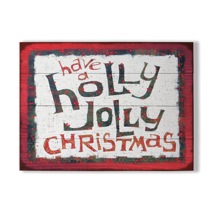 Holly Jolly Christmas Sign Old Wood Signs