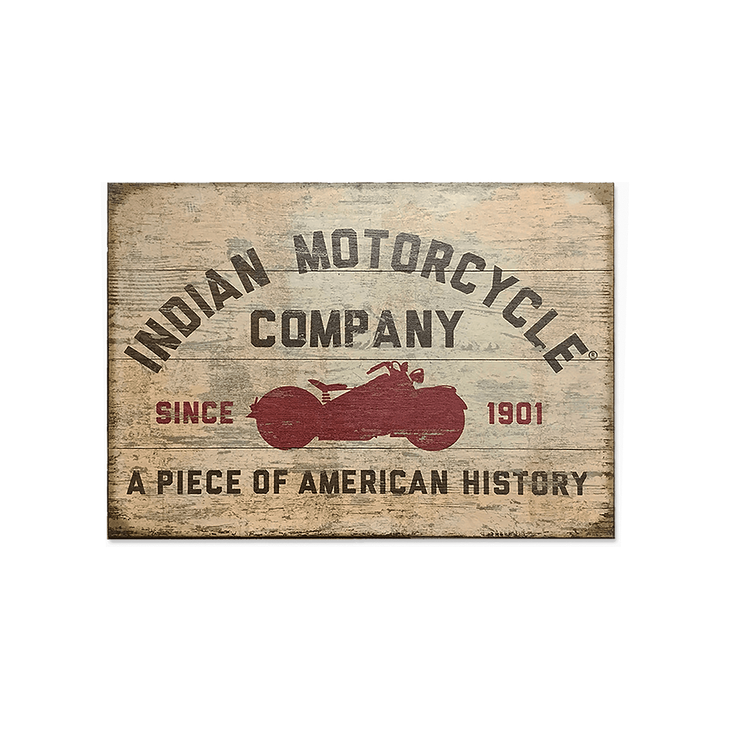 Indian Motorcycle Red Motorcycle Silhouette Sign - Indian Motorcycle Red Motorcycle Silhouette Sign