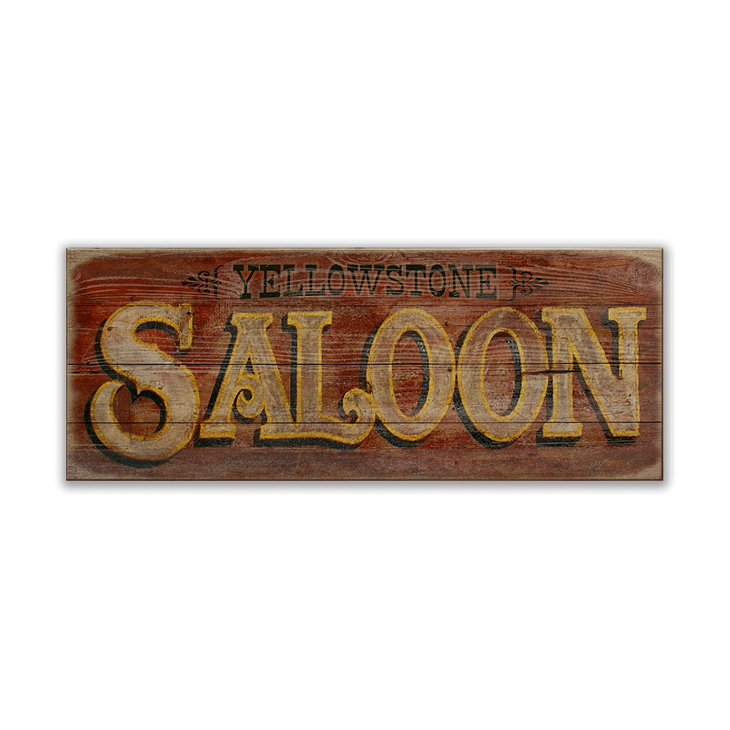 Saloon Sign Old Wood Signs