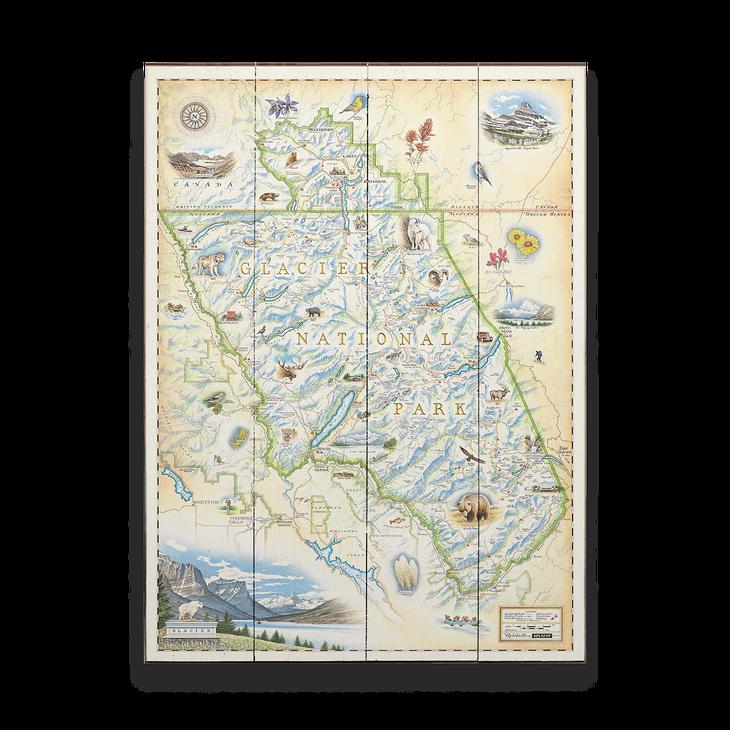 Glacier National Park Xplorer Map