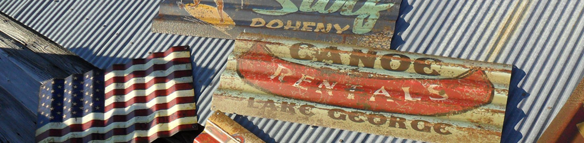 Unique Vintage Retro Wood and Metal Signs Made in the USA