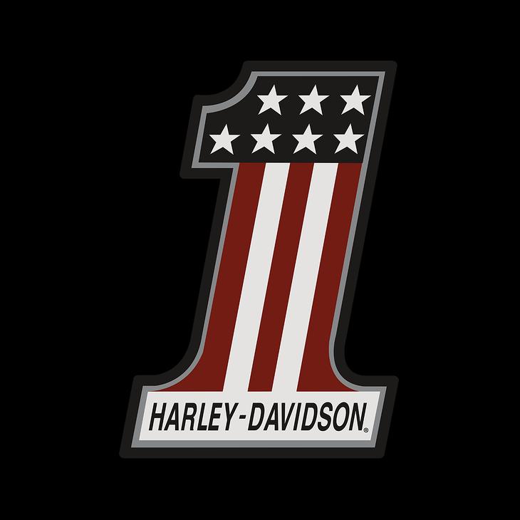 Metal Harley Davidson 1 Logo With Varnish Highlights Old