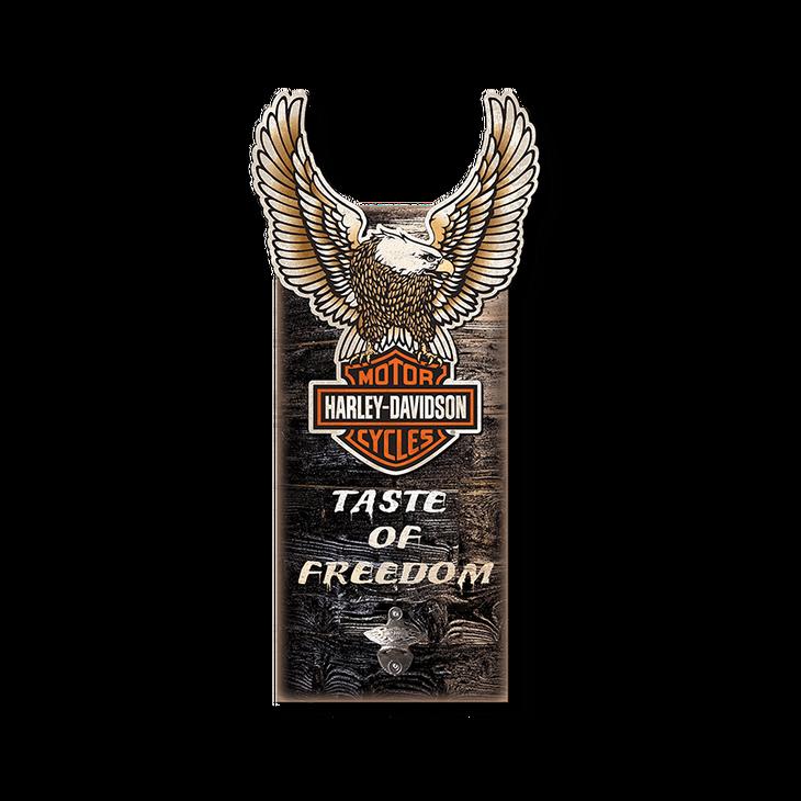 Harley Davidson 174 Eagle Bottle Opener Sign Old Wood Signs