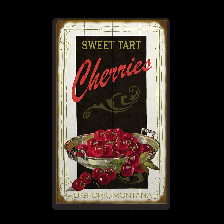 Sweet Tart Cherries Vintage Sign Old Wood Signs